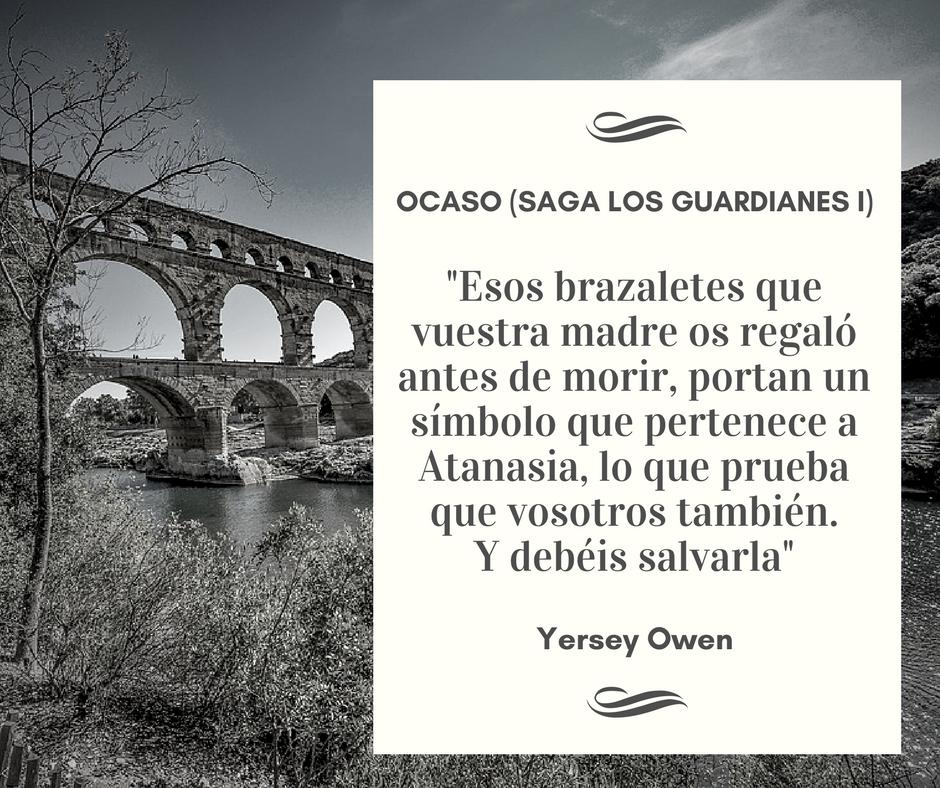Cita Ocaso, Saga Los Guardianes. Yersey Owen
