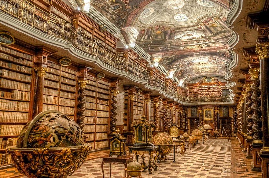 library_biblioteca_Praga_Prague