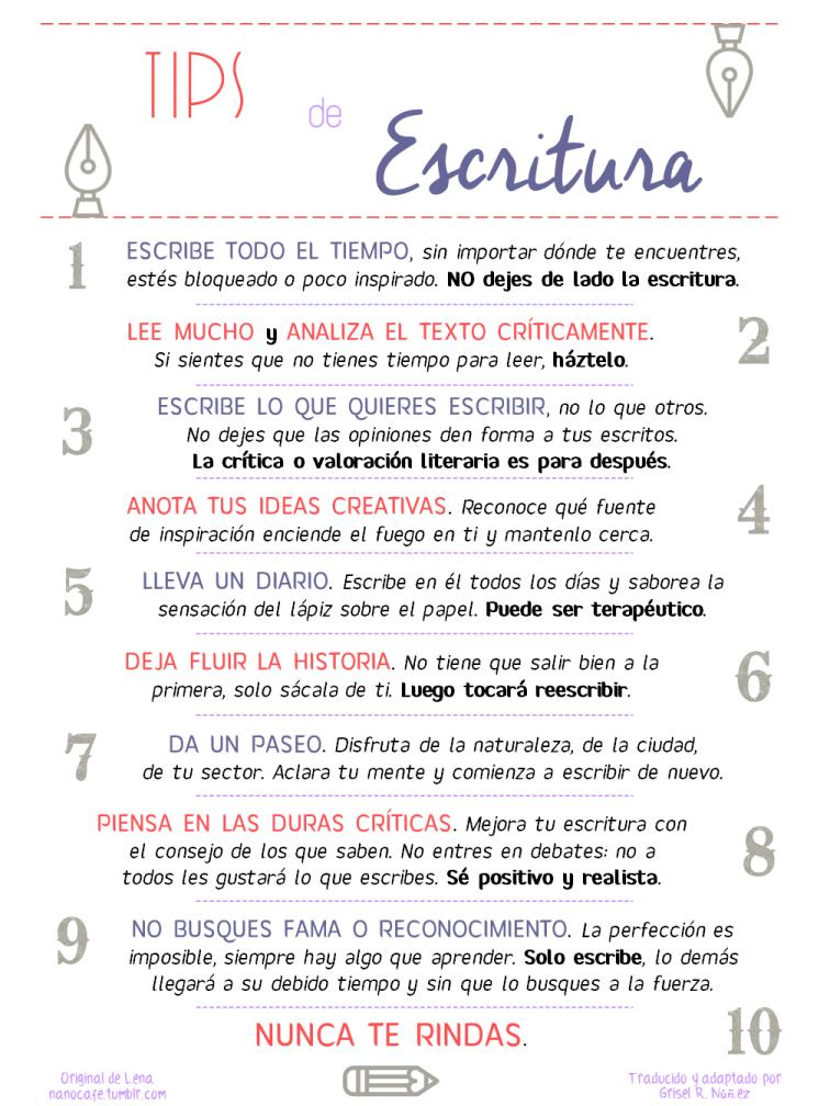 10 Tips de escritura